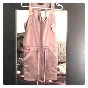Satin cargo dress